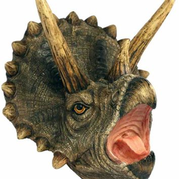 Triceratops Dinosaur Attack Plaque - 3D Wall Trophy