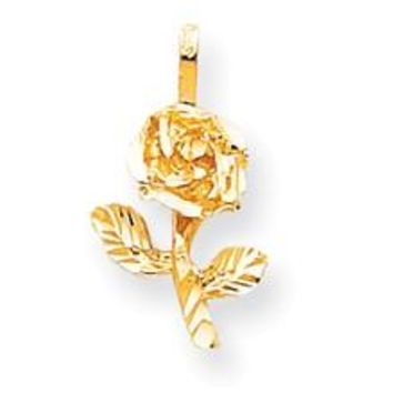 Rose Charm in 10k Yellow Gold