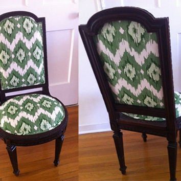 Pretty Ikat Dining/ Desk/ Vanity Chair