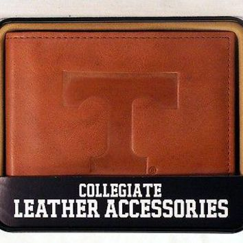 Tennessee Volunteers Embossed Leather Billfold Wallet NEW in Gift Tin