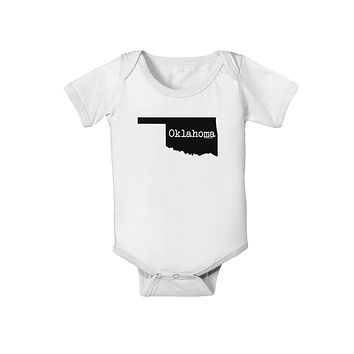 Oklahoma - United States Shape Baby Romper Bodysuit by TooLoud