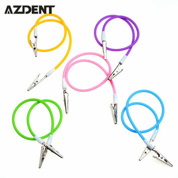 1pc Dental Equipment   Dental Bib Clips Flexible Chain Napkin Holder Baby Silicone Patient Crocodile Clip As Seen Tv Products
