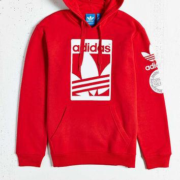 adidas Originals Box Trefoil Hooded Sweatshirt - Urban Outfitters
