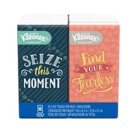 Kleenex Facial Tissue Pocket Packs, 3-Ply, White, 10/Pouch, 8 Pouches/Pack - Walmart.com
