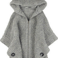 Stella McCartney|Oversized chunky knit cape|NET-A-PORTER.COM