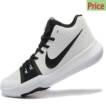 Spring Summer 2018 Really Cheap Kyrie 3  Black White Irving Shoes 2017 sneaker