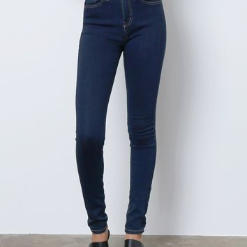 All Over Again Skinny Denim Jeans - Dark Blue