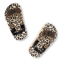 Toddler Girls Bow Leopard Print Flip Flop | The Children's Place