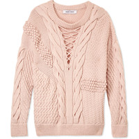 Prabal Gurung Textured Cable Knit Sweater - Textured Cable Knit Sweater