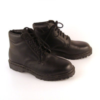 Doc Martens Boots Vintage 1990 Black Deadstock Dr Made in England UK Size 9