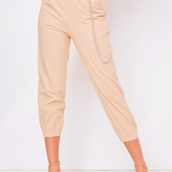 cassie beige chain trousers