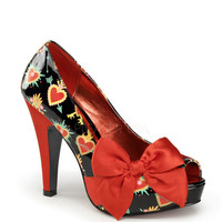 Pinup Couture Bettie Sacred Hearts Platforms