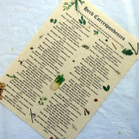 HERB CORRESPONDENCES PARCHMENT poster wicca pagan print art magic witch spell bos book of shadows