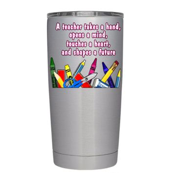A Teacher Takes a Hand 20 oz Tumbler