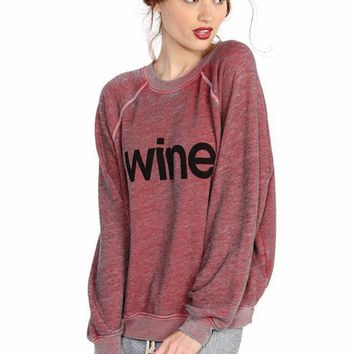 Wildfox Couture Wine Kim Sweater in Marinara