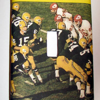 Light Switch Cover - Light Switch Plate Green Bay Packers Football yearbook
