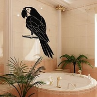 Wall Decor Vinyl Decal Sticker Nursery Baby Room Animals Birds Parrot Bathroom Decor Kj94