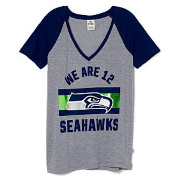 Seattle Seahawks V-neck Tee - PINK - Victoria's Secret