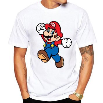 Mario Mushroom Graphic Design T-shirt