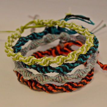 Gifts for Her // Natural Gifts // Nature Gifts // Colorful Spiral Hemp Jewelry Bracelet