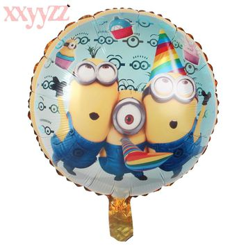 XXYYZZ 2018 New Air Balls Minions Balloons Despicable Me Balloon Helium Minion Party Decoration Balloon Printed Wedding Balls