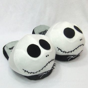 Christmas Skull Shoes Cotton Slippers [6047228545]