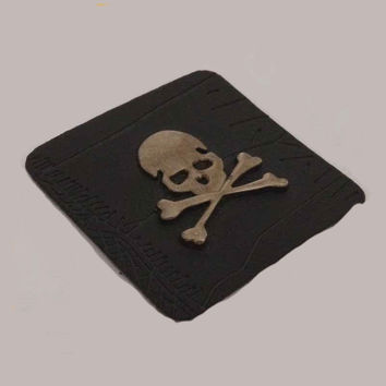 Custom Metal Skull Patch For Jeans