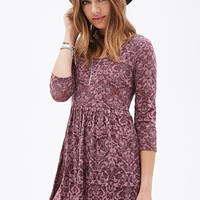 Ornate Floral Babydoll Dress
