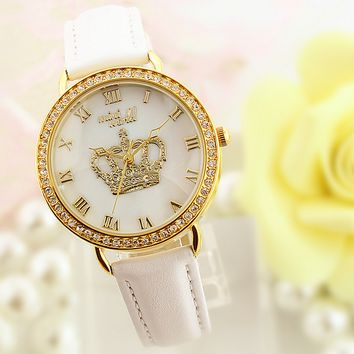 Women's Rhinestones Crown Watch