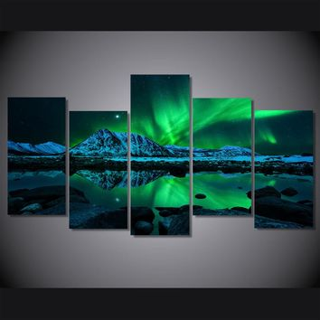 HD Printed aurora borealis Painting on canvas room decoration print poster picture canvas Free shipping W/0806