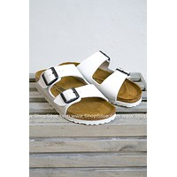 Arizona White Birkenstocks