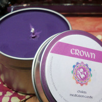 CROWN CHAKRA CANDLE - Open Your Spiritual Center Connect To Your Higher Self