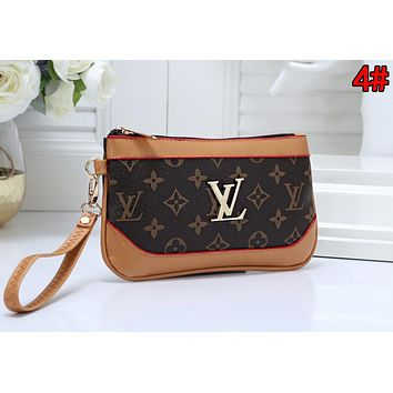 Louis Vuitton LV Hot Sale Women Leather Zipper Clutch Bag Handbag Tote 4#