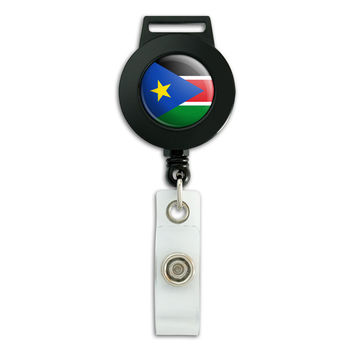 South Sudan National Country Flag Retractable Badge Card ID Holder