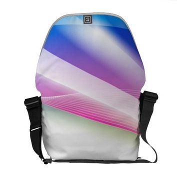 Abstract Swirl 1 Messenger Bag