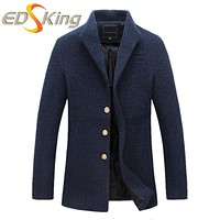 Men Single-Breasted Short Coat Solid Color Button Style Jackets For Man Fashion Bomber Trench Coat Windbreaker For Boy Raincoat