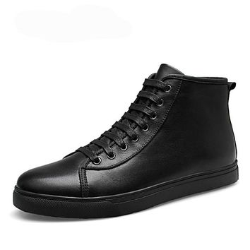 Men Ankle Boots Winter Autumn Casual  Genuine Leather