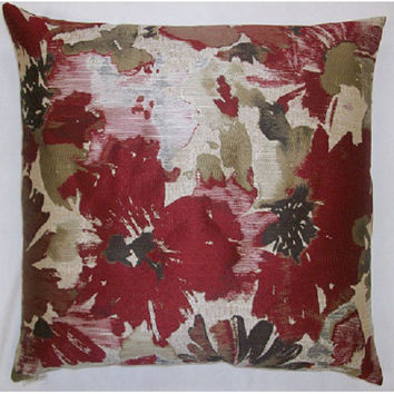 Canaan Company 2145-R Spring Meadow Damask 24 x 24 Pillow