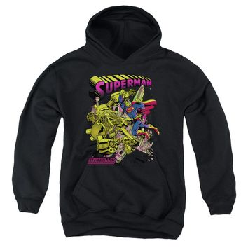 Superman - Versus Metallo Blacklight Youth Pull Over Hoodie