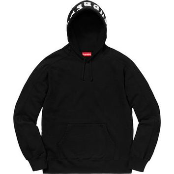 SUPREME Panel Hooded Sweatshirt - Black