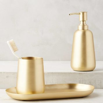 Gleaming Brass Bath Collection