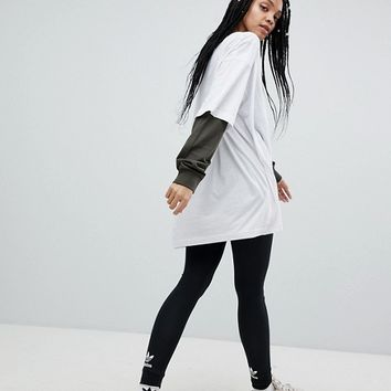 adidas Originals adicolor Trefoil Leggings In Black at asos.com