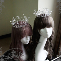 Ice Forest Elegant Gothic Lolita Fairy Queen Ceremony Crown