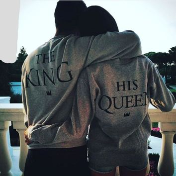 The King - His Queen - Couple's T-shirt