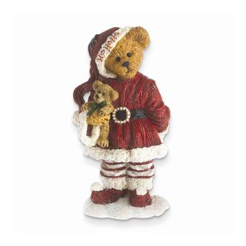 Boyds Santa Bear Holding Bear Figurine - Perfect Christmas Gift