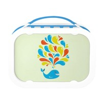 Bright Colorful Splash Happy Cartoon Whale Lunch Box
