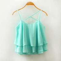 Summer Style Candy Color Blouse