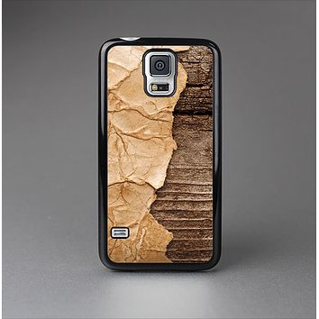 The Vintage Paper-Wrapped Wood Planks Skin-Sert Case for the Samsung Galaxy S5