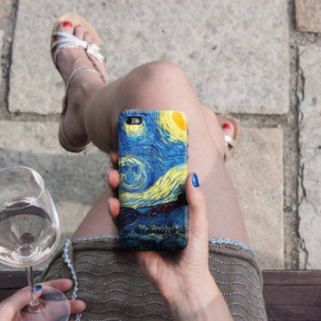 Starry Night - Van Gogh iPhone Case 6, 6S, 6 Plus, 4S, 5S. Galaxy, HTC, Sony, LG. Art Painting. Gift Idea. Anniversary. Gift for him/her
