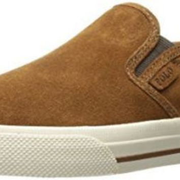 CREYON Polo Ralph Lauren Men's Vaughnslipii Sneaker, New Snuff, 7 D US